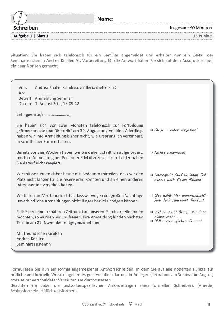 How to Pass German Language Exam C1 in 10 Years (4) - Anatomy of the